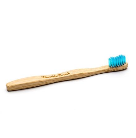 Humble Brush bambutandborste för barn, extra mjuk, blå
