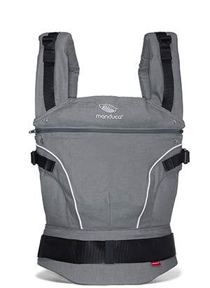 Manduca PureCotton Baby and Child Carrier - mörkgrå