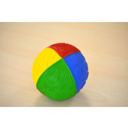 Lanco känselboll i naturgummi, klara färger