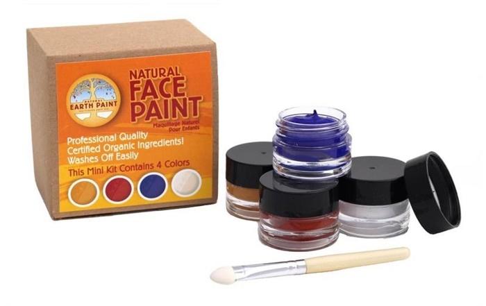 Natural Earth Paint, ekologisk ansiktsfärg 4-pack