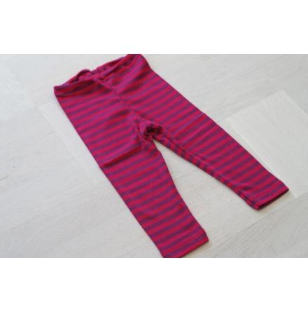 Engel leggings i ull/silke, röd/lila