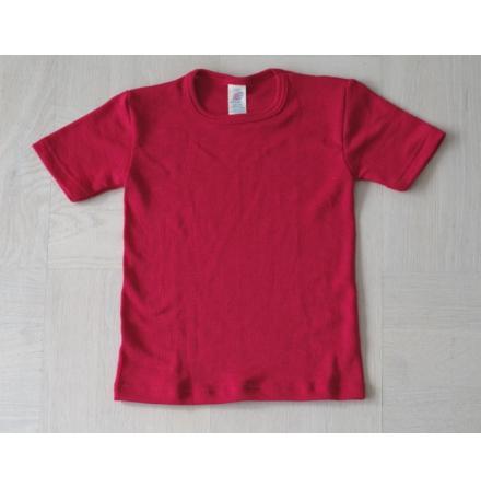 Engel t-shirt i ull/silke, röd