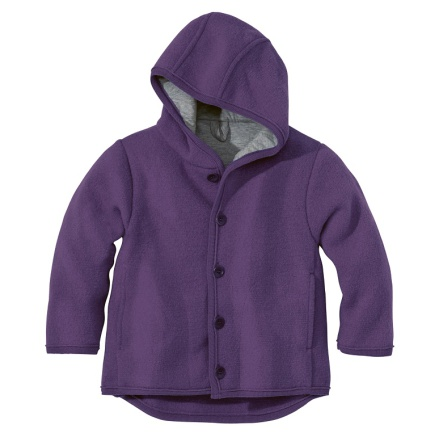 Disana boiled wool jacket plum