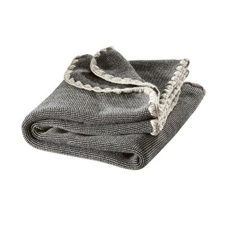 Disana melange woollen baby blanket anthracite-grey melange