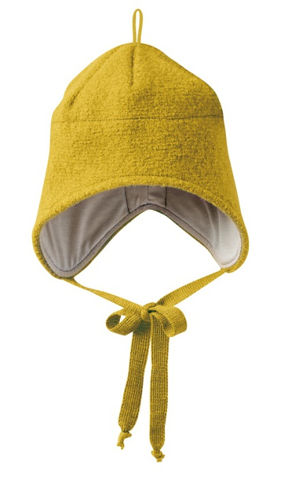 Disana boiled wool hat curry