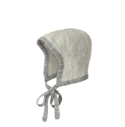 Disana bonnet, grey-natural melange