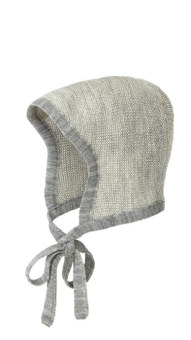 Disana bonnet, grey-natural melange