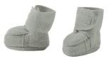Disana boiled wool booties grey