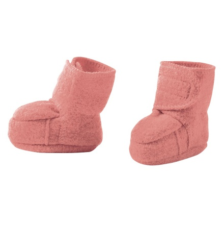 Disana boiled wool booties rose
