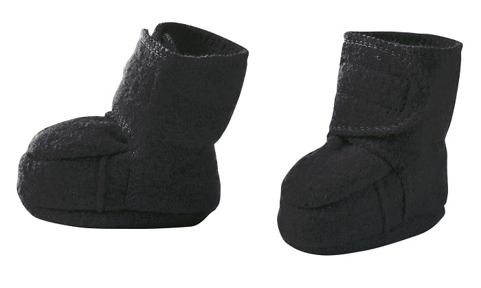 Disana boiled wool booties anthracite