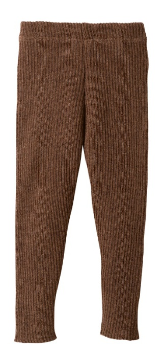 Disana knitted leggings, hazelnut