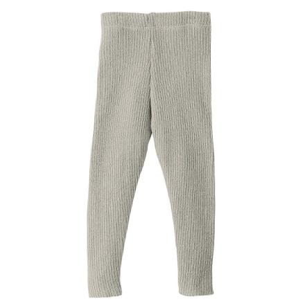 Disana stickade leggings i ekologisk merinoull, grå
