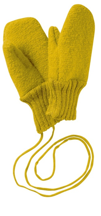 Disana boiled wool gloves curry