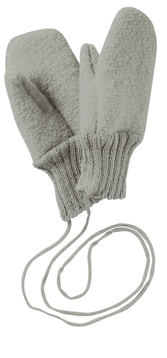 Disana boiled wool gloves grey