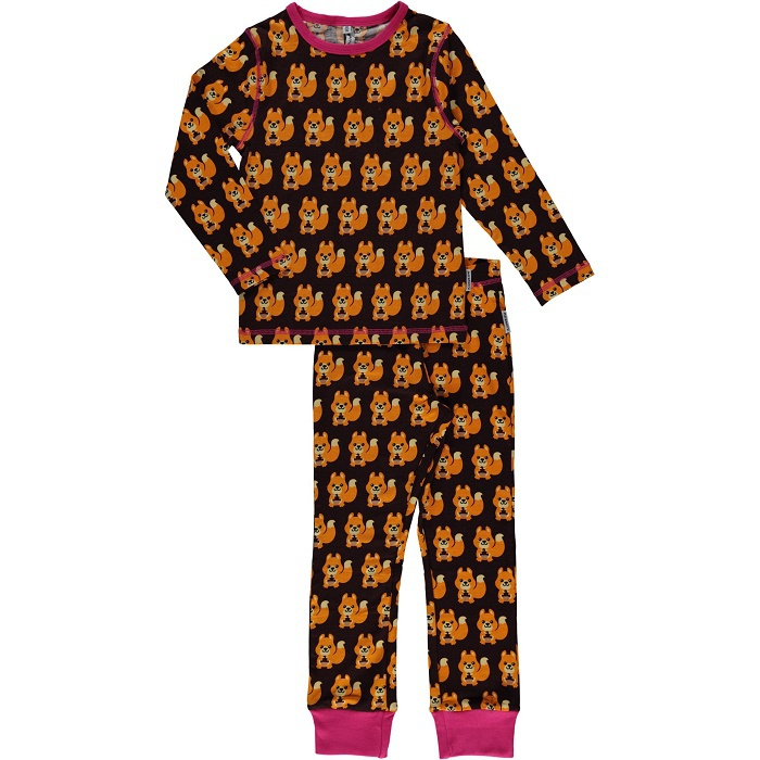 Maxomorra pyjama set LS squirrel