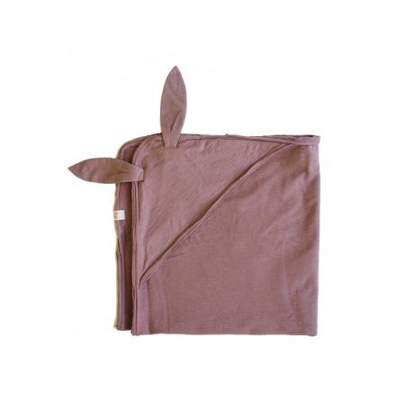 By Heritage Rabbit Blanket Old Pink
