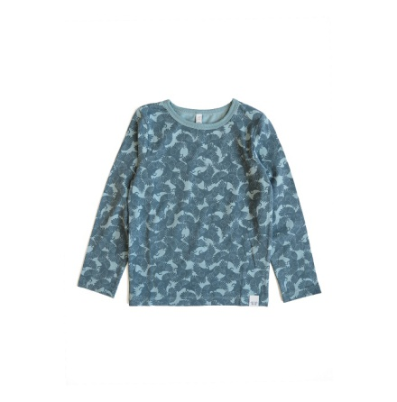 By Heritage Loa Top Print Petrol