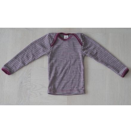 Engel tröja i ull/silke, grå/lila
