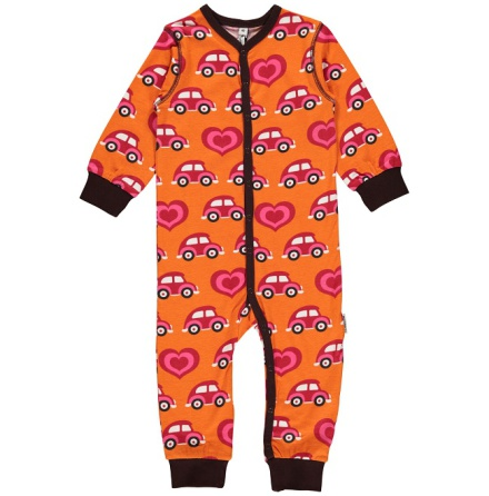 Maxomorra rompersuit button LS car