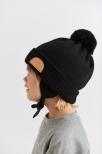 PAPU Pom Pom Wool Beanie black