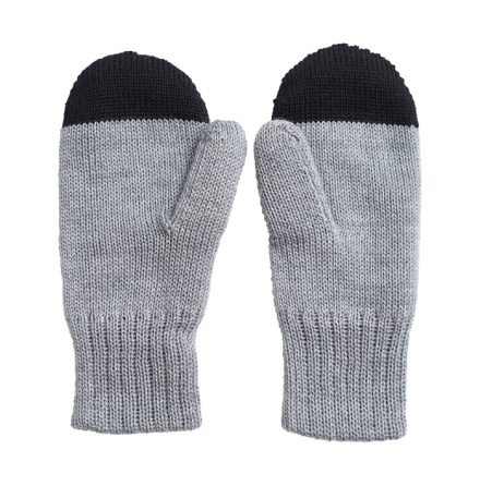 PAPU Kivi Wool Mitten Grey/Black