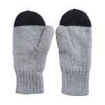PAPU Kivi Wool Mitten Grey/Black