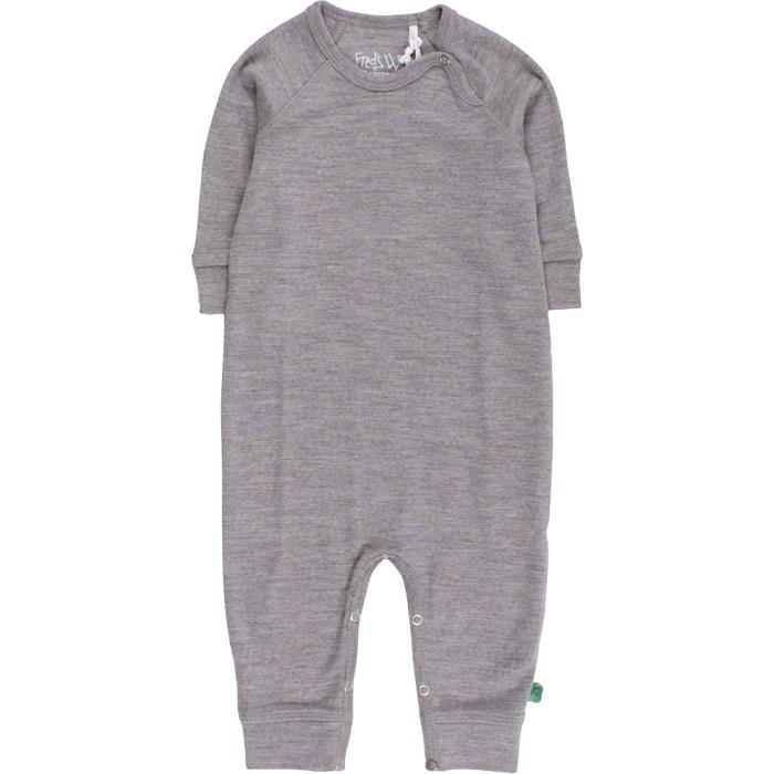 Fred's world wool bodysuit, grey