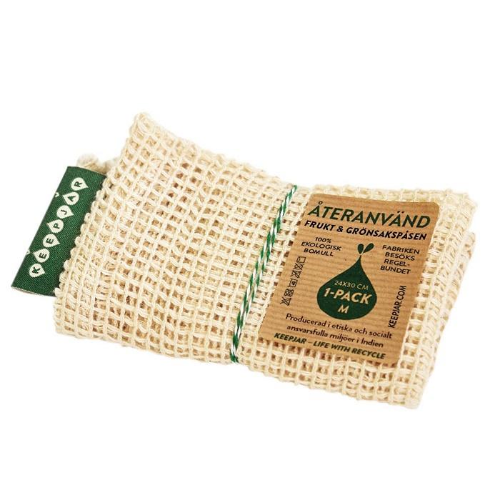 KeepJar nätpåse ekobomull stl M, 1-pack
