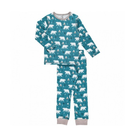 Maxomorra Pyjama Set LS Polar Bear
