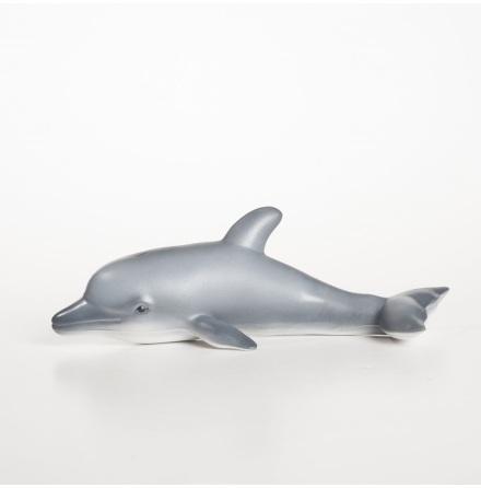GreenRubberToys delfin 25 cm i naturgummi