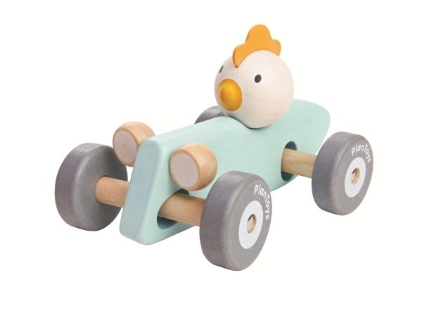 PlanToys Racerbil i Trä, Chicken Racing Car