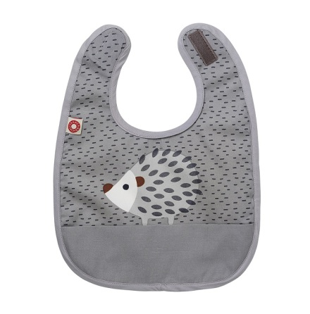 Franck & Fischer food bib grey hedgehog