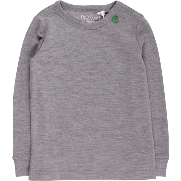 Fred's world wool T-shirt, grey