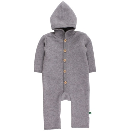 Fred's world wool fleece suit with hood, grey