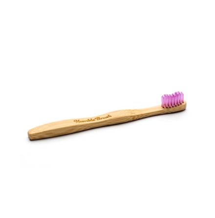 Humble Brush bambutandborste för barn, extra mjuk, rosa
