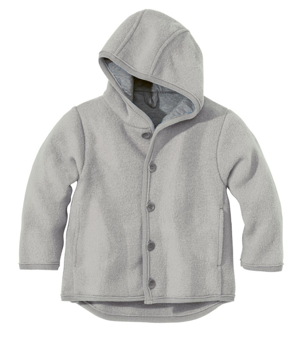 Disana jacka i ekologisk filtad/kokt ull, grå