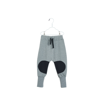 PAPU Loose Baggy Patch Sweatpants - grå