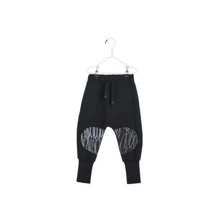 PAPU Loose Baggy Patch Sweatpants - svart