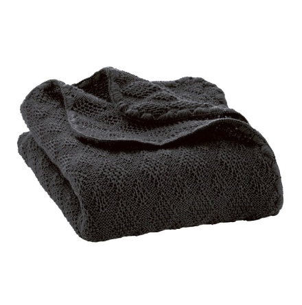 Disana knitted woollen baby blanket anthracite