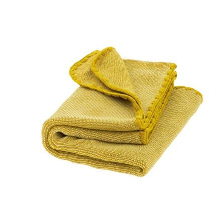 Disana melange woollen baby blanket curry-nature