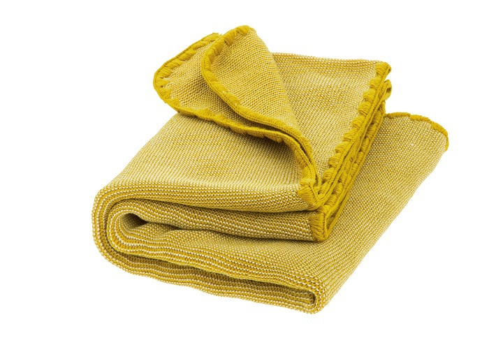 Disana melange woollen baby blanket curry-nature