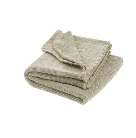 Disana melange woollen baby blanket grey-nature