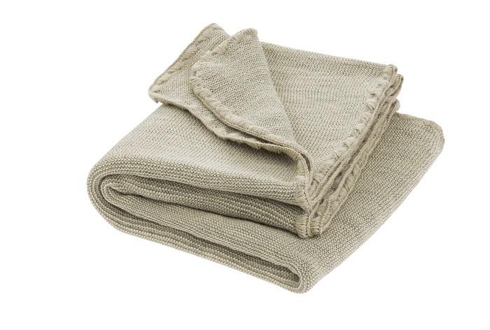 Disana melange woollen baby blanket grey-nature