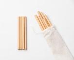 Sugrör av bambu, 10-pack