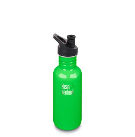 Klean Kanteen classic med sportkork 532 ml, Spring Green