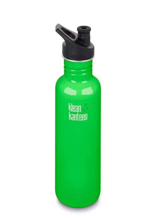 Klean Kanteen classic med sportkork 800 ml, Spring Green