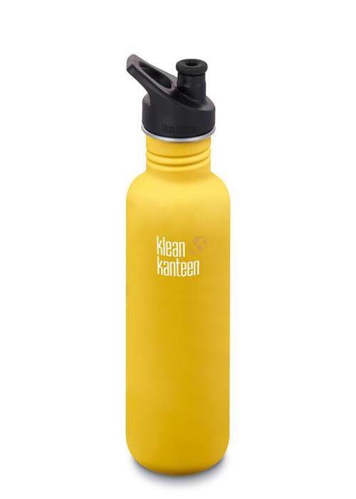 Klean Kanteen classic med sportkork 800 ml, Lemon Curry