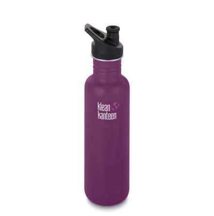 Klean Kanteen classic med sportkork 800 ml, Winter Plum