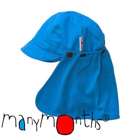 ManyMonths Multicap, solkeps med nackskydd, himmelsblå