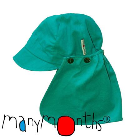 ManyMonths Multicap, solkeps med nackskydd, turkos